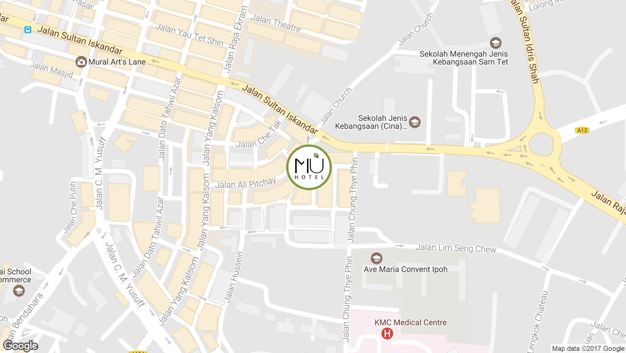 MÙ Hotel Ipoh - Location Map